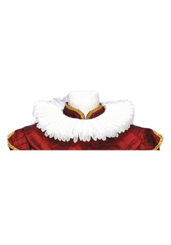 Kings White Pleated Collar
