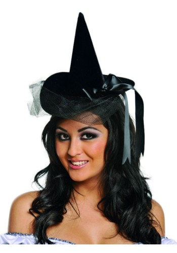 Mini Burlesque Witch Hat - Velour