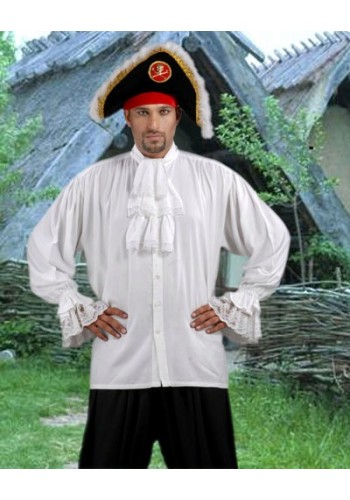Colonial Shirt, Pirate Shirt, Jabot Shirt