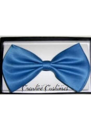 Satin Bow Tie-Blue
