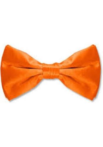 Satin Bow Tie-Orange
