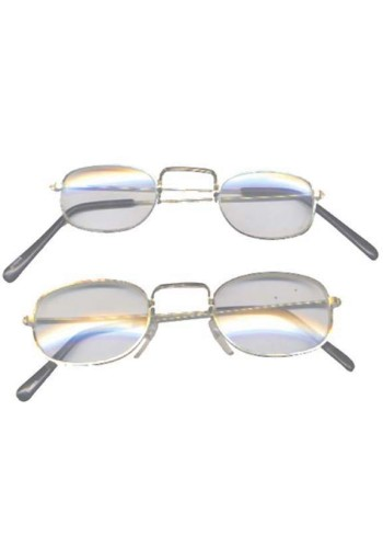 Rectangular Glasses with Clear Lenses