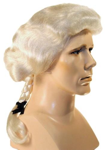 George Washington Wig   Colonial Wig, Barrister Wig,  Colonial Man Wig, Thomas Jefferson wig, Quaker wig, Mozart wig, William Penn wig