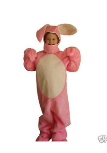 Child's Pink Open Face Bunny Suit