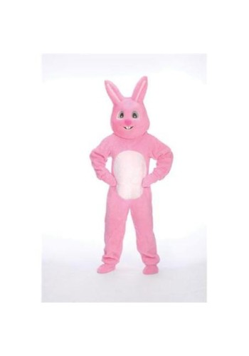 Pink Bunny Suit with Mascot Head
