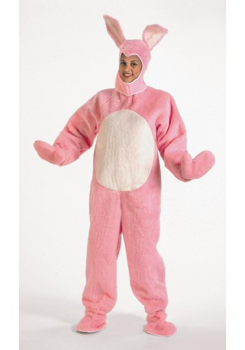 Pink Bunny Suit Open Face