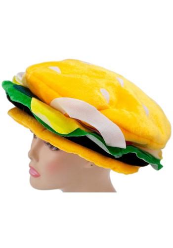 Velvet Cheeseburger Hat - Novelty Hat, Silly Hat, Funny Hats