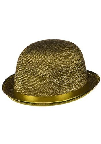 Gold Glitter Derby Hat