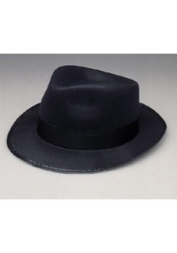 Permafelt Blues Brother Fedora Hat Black