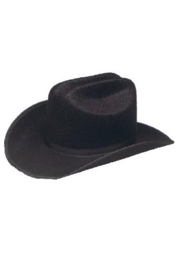 Child Cattleman Cowboy Hat Permalux, Black