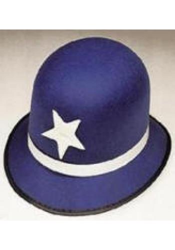 Keystone Cop Hat Royal Blue