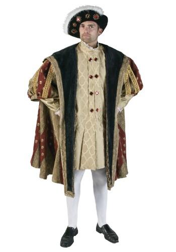 Henry VIII Costume - King Costume, King Henry VIII Costume, Medieval King Costume