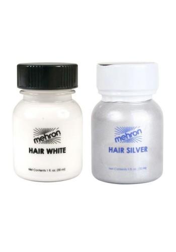 Mehron Hair Color White or Silver