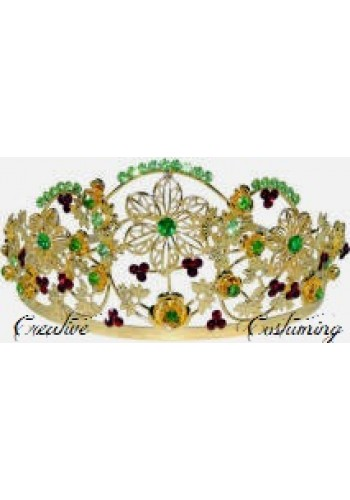 Gold Flower Leaf Tiara