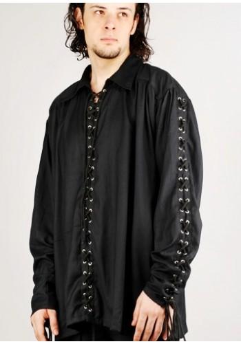 Bully Hayes Pirate Shirt | Renaissance Shirt, Jabot Shirt, Gothic Shirt, Medieval Shirt, Pirate Costume