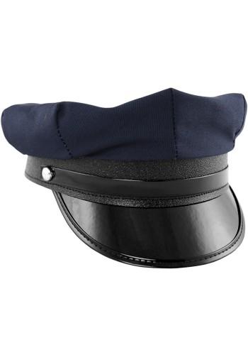 Police Hat / Chauffeur Cap - Blue