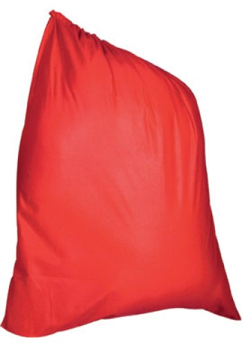 Santa Claus Velour Gift Bag w/Drawstring Top