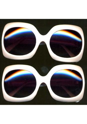Jackie O Pearlized White Sunglasses