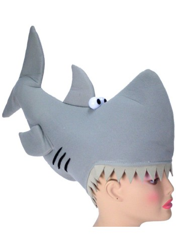 Man-Eating Shark Hat -  Novelty Hat, Silly Hat, Animal Hat, Funny Hats