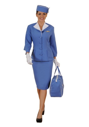 Stewardess Costume - Pan Am Stewardess Costume, Airline Stewardess Costume, Retro Stewardess Costume, Flight Attendant Costume, Stewardess Outfit