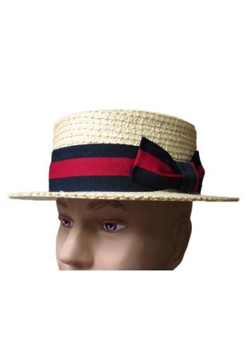 Straw Braid Boater Hat