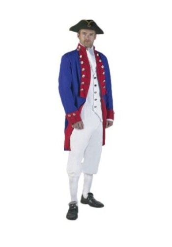 Colonial Man Costume, Revolutionary Soldier