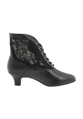 Victorian Dame Lace Boot - Black