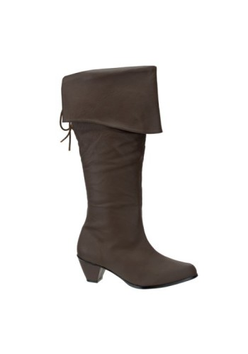 Pirate Maiden Boots - Brown Leather