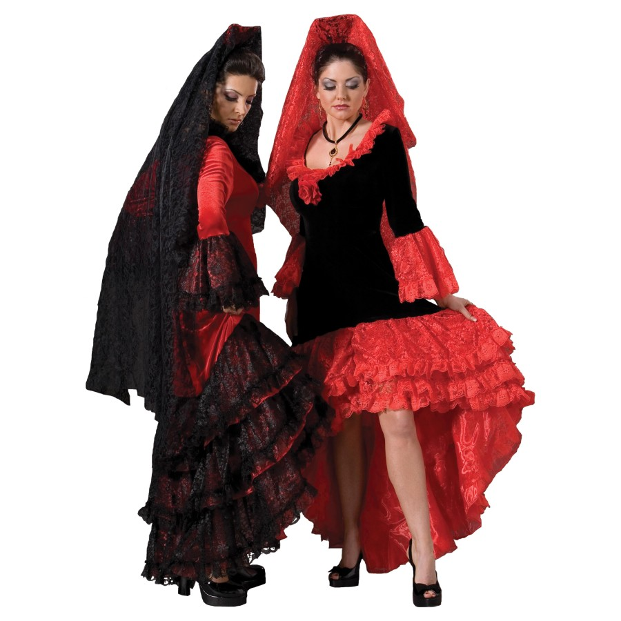 Spanish Senorita Costume Flamenco Dancer