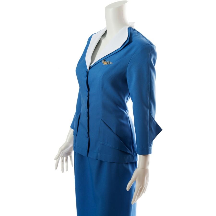 Retro Flight Attendant Costume Stewardess Costume Pan Am
