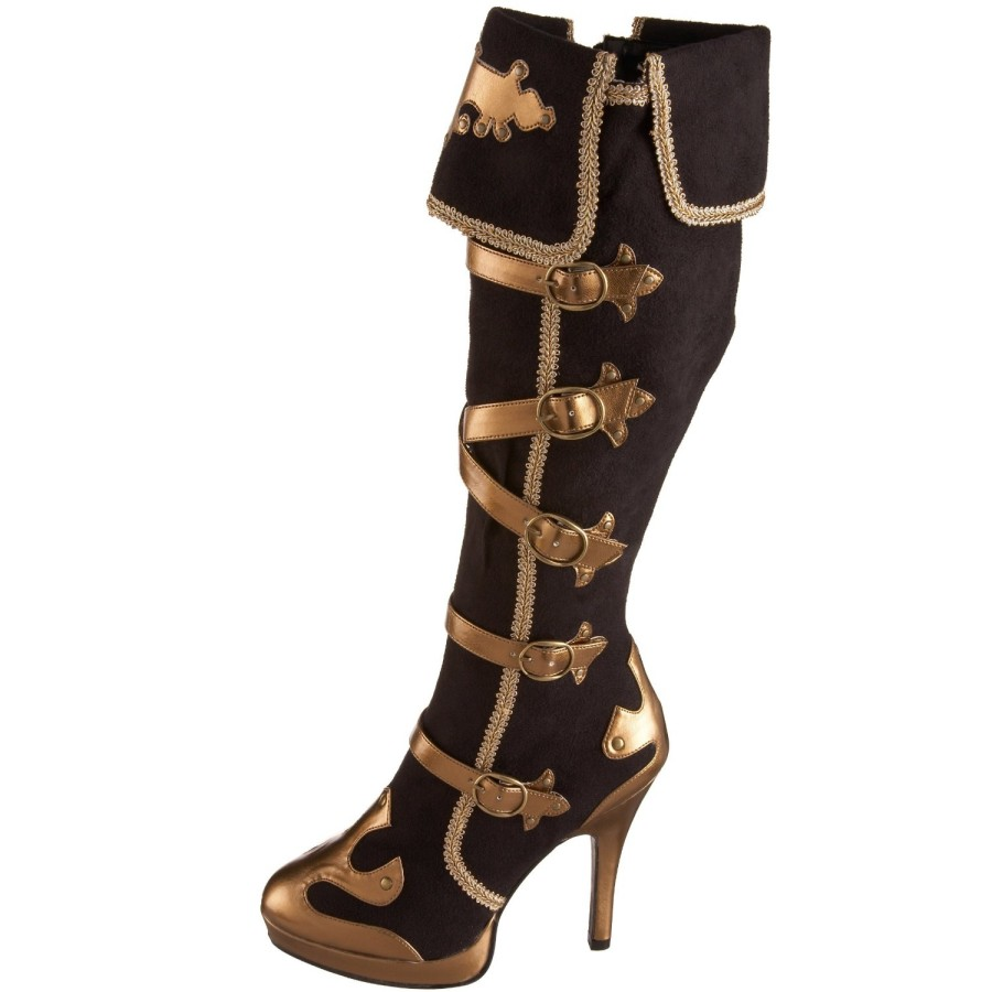 New Adult Prestige Deluxe Vinyl Boot TOPS  For Pirate Costumes, Renaissance Costumes And More! Add This Pair Of