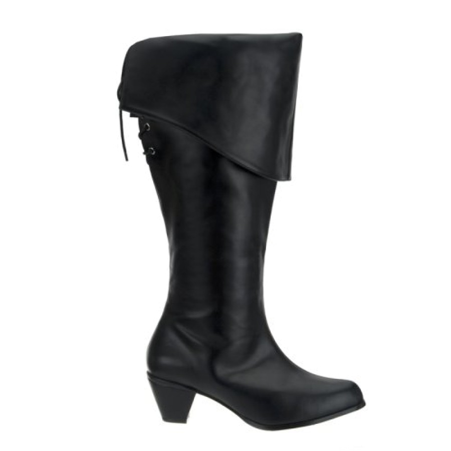 Lastest Womens Flat Pirate Boots Front
