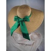 Victorian Large Brim Tan/Natural Straw Sheer Mesh Hat