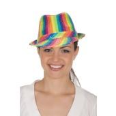 Multi-Color Sequin Fedora Hat