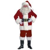 Burgundy Velvet Santa Suit