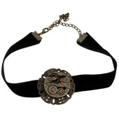 Black Velvet Antique Gear Choker