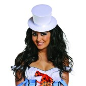 White Top Hat - Satin