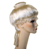 Deluxe Colonial Lady Wig - Colonial Wigs, Colonial Lady, Powdered Wig
