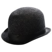 Lamé Derby Hat - Black