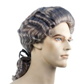 Discount Colonial Man Wig - George Washington Wig, Thomas Jefferson wig, Quaker wig, Mozart wig, William Penn wig