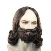 Discount Jesus Wig, Mustache & Beard Set