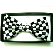 Bow Tie-Black/White Checkerboard