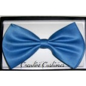 Satin Bow Tie-Blue