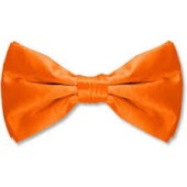 Satin Bow Tie-Orange