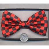 Bow Tie-Red/Black Checkerboard