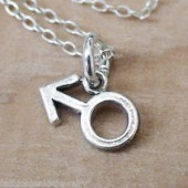 Male Symbol Gold Metal Chain Necklace