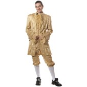 Gold Colonial Man Costume - Colonial Costume, Adult Colonial Costumes, Historical Costumes, Colonial Outfit, Louis XIV Costume