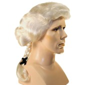 George Washington Wig | Colonial Wig, Barrister Wig,  Colonial Man Wig, Thomas Jefferson wig, Quaker wig, Mozart wig, William Penn wig
