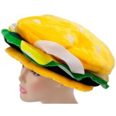 Velvet Cheeseburger Hat - Novelty Hat, Silly Hat, Funny Hats