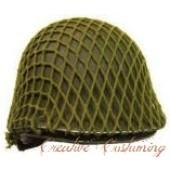 GI Army Helmet Vintage Style w/Netting